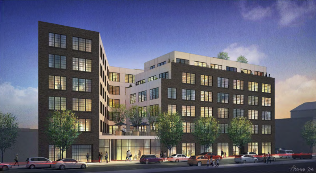2nd and Cecil B Moore 93 units rendering