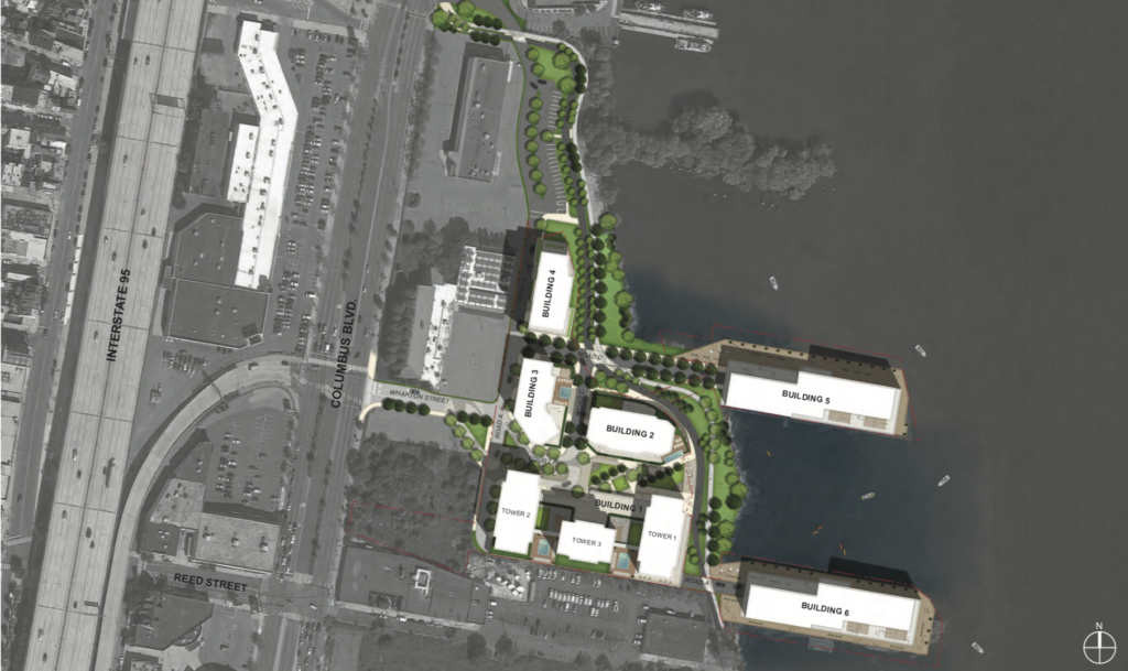 Liberty on the river site plan