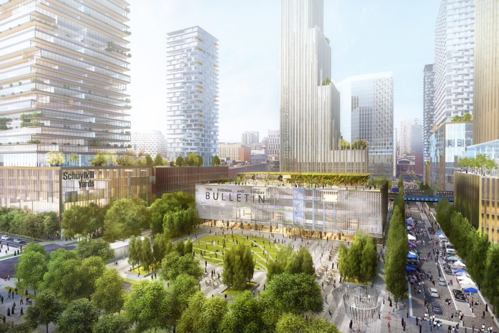 Schuylkill Yards and Drexel Square Rendering