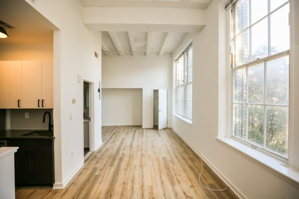 apartment unit in the Schoolhouse Lofts