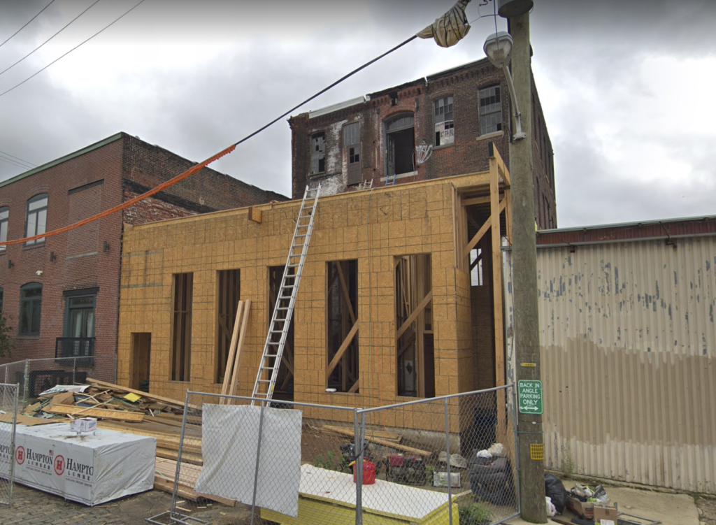 addition under construction 2045 Trenton Ave