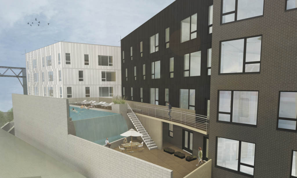 Rendering of 919 Diamond St KJO Architecture