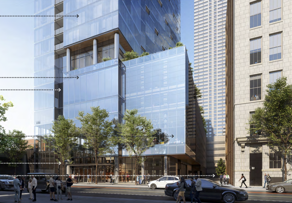 Rendering of the tower at 33 N. 22nd St.