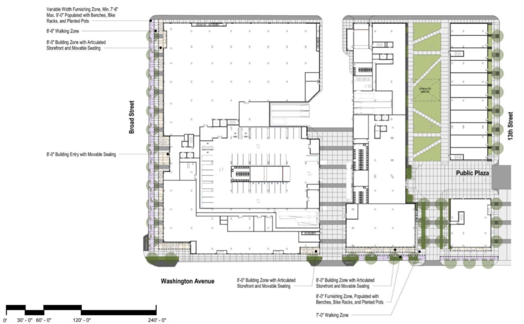 1001 S. Broad St. site plan