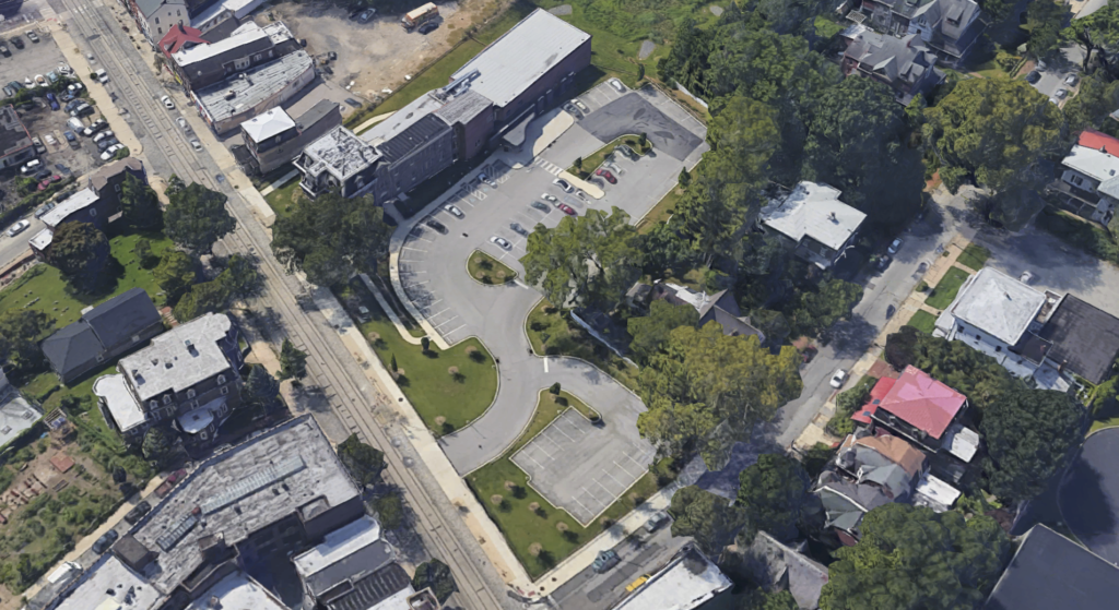 Aerial view of 6128 Germantown Ave.