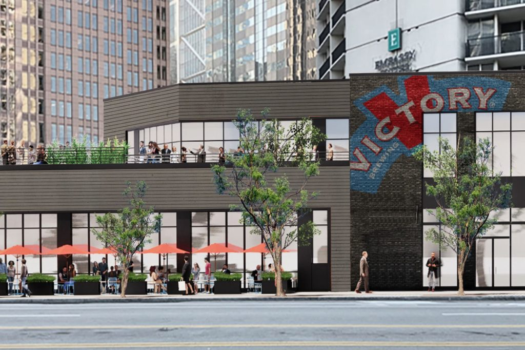 Rendering of the Victory Brewing center city philadelphia