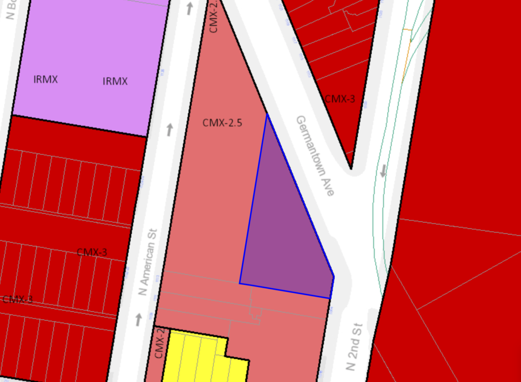 1102 Germantown Ave. Zoning Map
