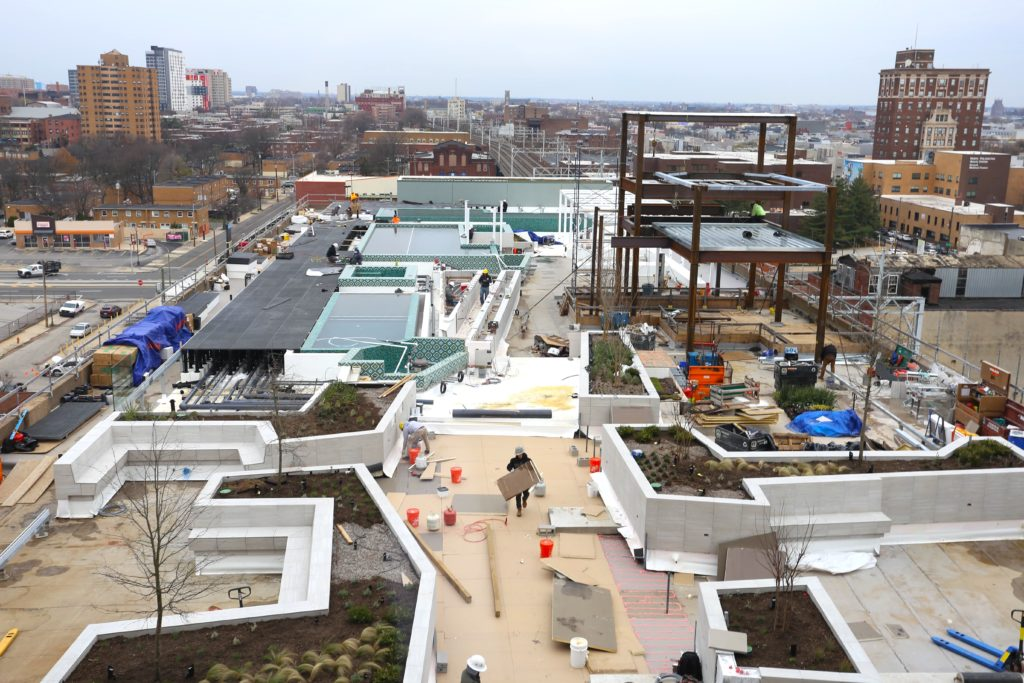 The rooftop at The Poplar