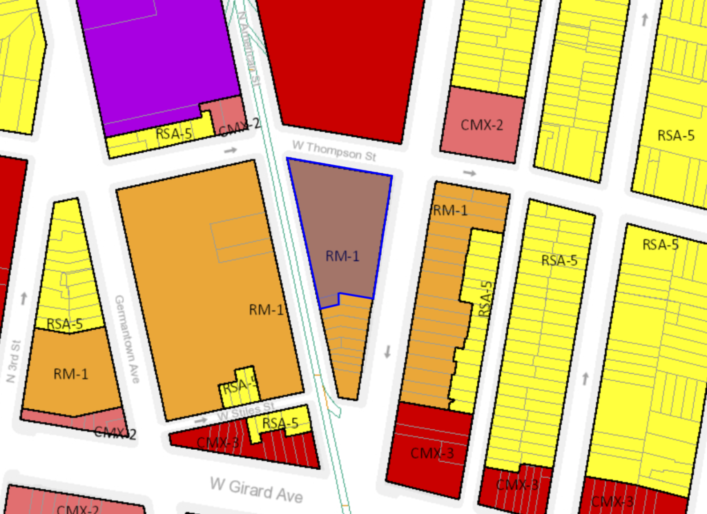 1222 N. 2nd St. Zoning Map