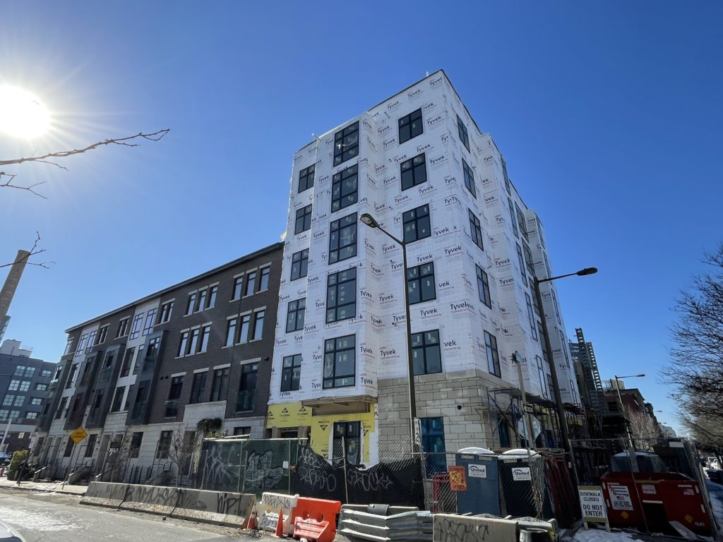 The Edison under construction at 312 N. 2nd St. in Old City