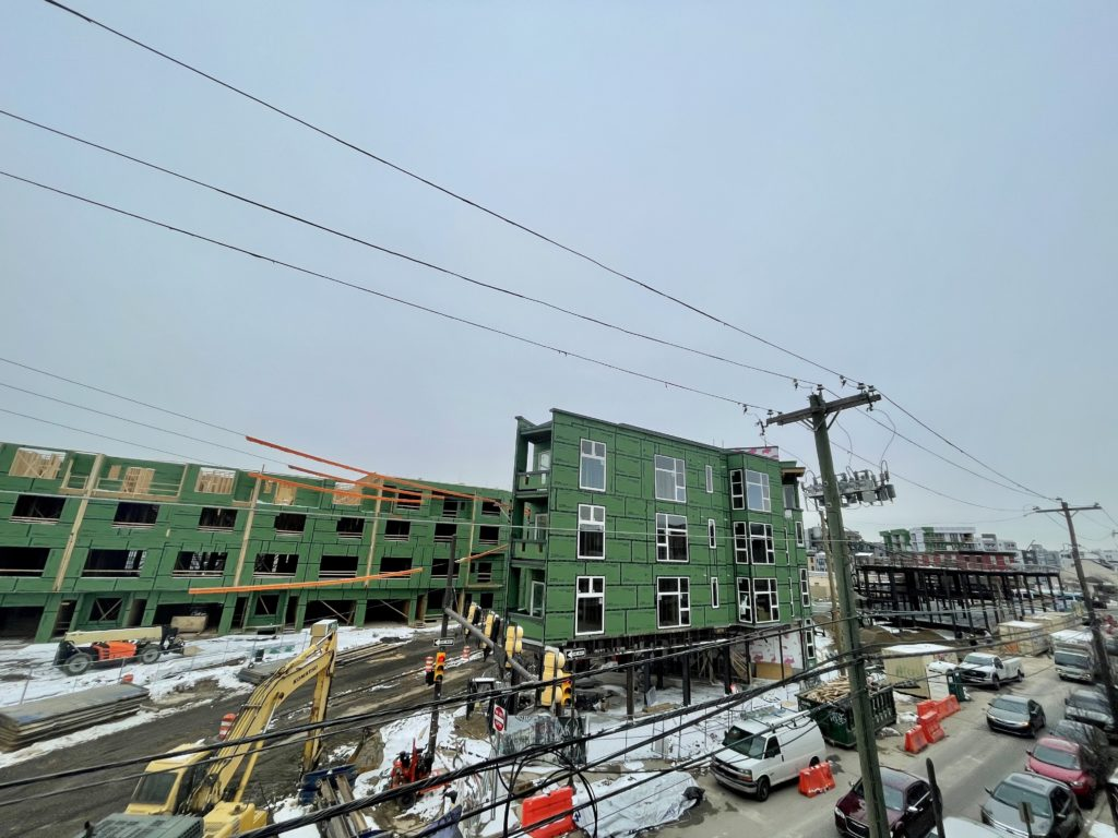 North Liberty Triangle under construction