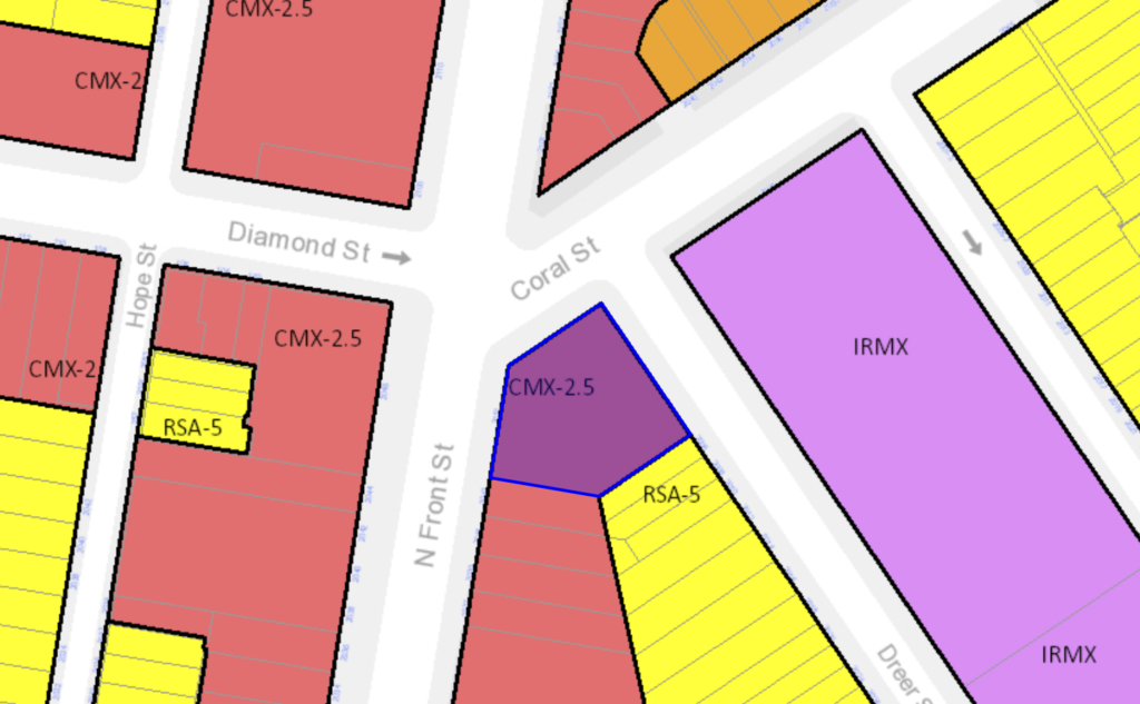 2043 N Front St zoning map